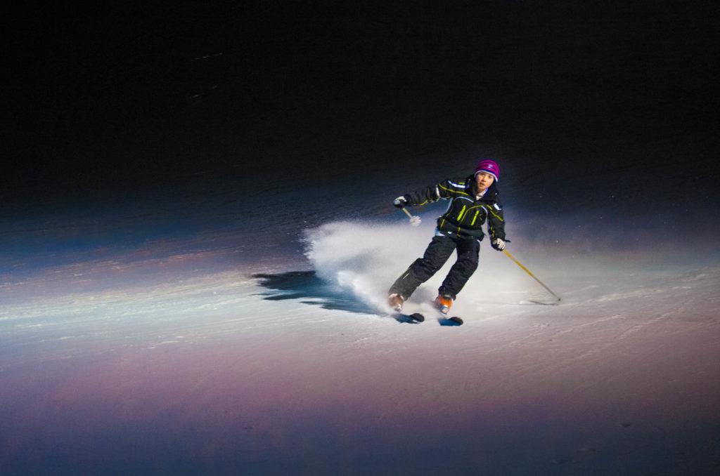 Ski nocturne à Chabanon