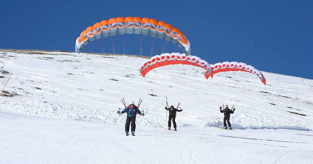 Parapente à ski (Photo Patrick Jolliet)