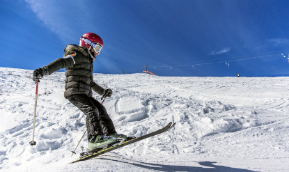 Saut ski neige