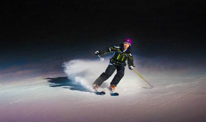 descente piste ski nocturne