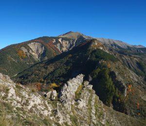 Barles Blayeul vu du rocher du Château automne